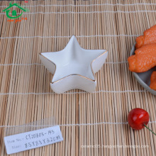 China supplier popular star shape ceramic saucer dishes