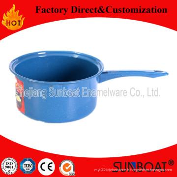 Sunboat émail lait Pot casserole