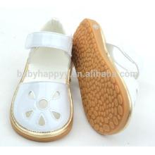Sapatilhas de borracha de borracha de couro para crianças PU Pure Beautiful Girls Shoes