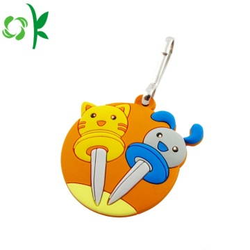 Top Quality Cartoon Silicone Zipper Puller for Christmas