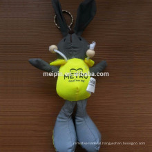 New material stuffed cute keychain reflective toy