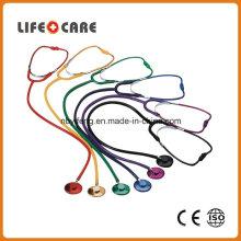Coloured Single Head Aluminium Alloy Chestpiece Stethoscope for Adult