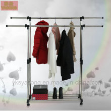Metal Garment Rack Balcony Clothes Drying Rack Metal Clothes Rack