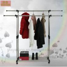 El estante de la ropa del metal balcón arropa el estante de la ropa del metal del estante de la ropa