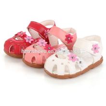 Soft kids flat sandals summer flower sandals