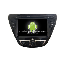 Quad core! Dvd do carro com link espelho / DVR / TPMS / OBD2 para 7 polegadas tela sensível ao toque quad core 4.4 sistema Android Hyundai Elantra 2014