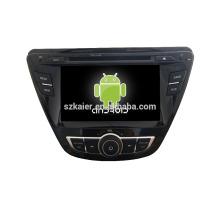 Четырехъядерный!автомобильный DVD с зеркальная связь/видеорегистратор/ТМЗ/obd2 для 7inch сенсорный экран четырехъядерный процессор андроид 4.4 системы Хендай Элантра 2014