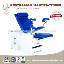 Medical Standard CE Approved Hospital Obstetric Table Stainless Steel Gynecology Chair For Sale