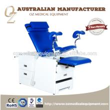 O CE padrão médico aprovou a cadeira de aço inoxidável da ginecologia da tabela obstétrico do hospital para a venda