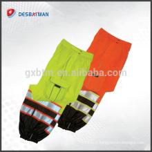 Salut Vis sécurité travail réfléchissant pantalons pantalons, pantalon jaune orange 2 bandes réfléchissantes EN471 avec poches