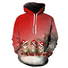 Custom Digital Full Printed Hoodies Fleece Chirstmas Sport Sweatshirt (KT66001)