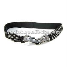 Girl's Dress Elastic Belt Crystals Elastic Belt