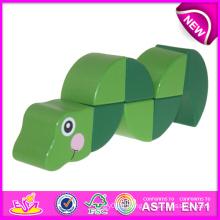 Jouet de jeu de rôle en bois bricolage jouet pour enfants, jouet en bois bricolage jouet pour enfants, mignon jouet en bois de serpent pour bébé W14I001