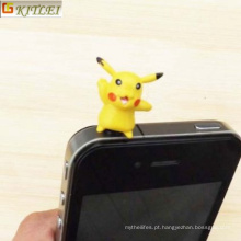 Bonito 3D Feliz Pikachu Pokemon Poke Bola Poeira Plug