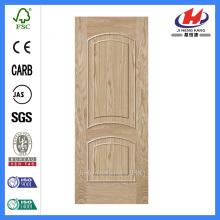 JHK-M09 natural ash door skin solid wood style beautiful texture 2panel