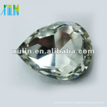 diamante de gota plateado plata diamante gota SWW040