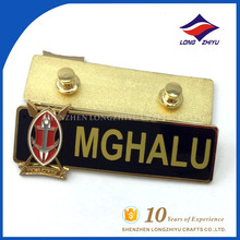 Große Qualität Metall Name Abzeichen Fabrik direkt Verkaufspreis