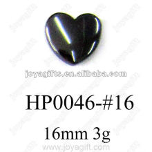 Hematite 16MM Heart Pendants