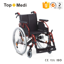 Topmedi Twa251lhpq Hot Selll Aluminum Foldable Beautiful Designed Middle East Wheelchair