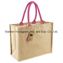 Fashion Large Classic Natural Jute Shopper Tote Bag