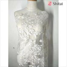 Tulle embroidery fabric hot sales