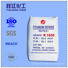 Cloruro Proceso Dióxido de Titanio Equivalente a R902