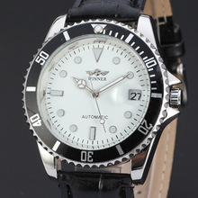winner watch bezel automatic mechanical watch with date design