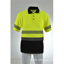 Hi Vis ANSI Class 3 Road Work Safety Short Sleeve T Shirt