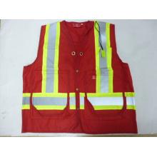 High Visibility Sleeveless Surveyor Vest