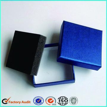 Boucles d'oreilles Boîtes d'emballage Custom Logo Foam Insert