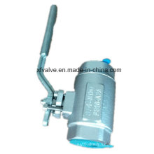 800lb forgé en acier inoxydable F316 fil NPT robinet à tournant sphérique