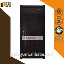 Profesional cortafuego puerta, puerta de fuego de una hora, diseño de la puerta de panel de madera