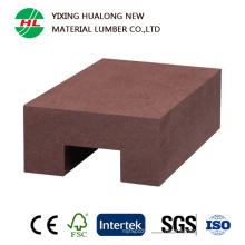 Compuesto impermeable plástico WPC de madera Raling para al aire libre