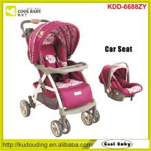Hersteller New Baby Kinderwagen 2 bis 1 Verstellbare Griffhöhe Baby Kinderwagen mit Autositz