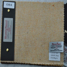 beige made to measure tweed fabric for making women's overcoating