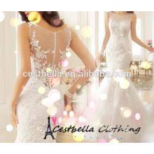 Neues Modell Günstige Elegant Elfenbein Meerjungfrau Brautkleid 2017