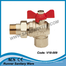 Butterfly Handle Brass Angle Ball Valve (V18-009)