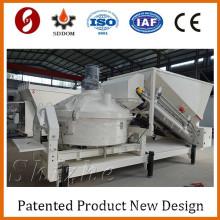 MC1200 15m3/h Mobile mini concrete batching plant