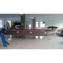 Barco inflável de 1,2 mm PVC alumínio piso para resgate