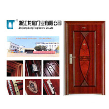 The Popular Matte Lvory Steel Door Made in China