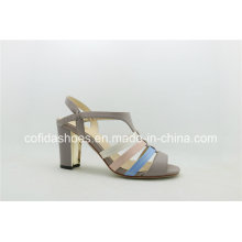 Comfortable Multi Colors Sexy Strap Sandal with Metal Heel