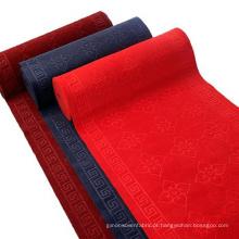 Tapete de exposição de soco agulha gravam tapete vermelho
