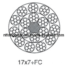 Special-Purpose Steel Wire Rope 17X7+FC / Steel Wire Ropes for Special Purpose 17X7+FC