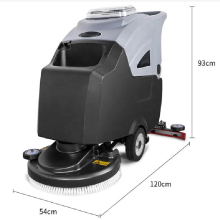 commercial industrial automatic mat cleaning machine epoxy cement concrete terrazzo tile floor scrubber for gym warehouse shop