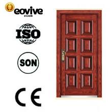 novo produto das últimas imagens de aço porta de madeira de estilo