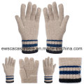 Five-Fingers Winter Pashmina Gloves with Stripes