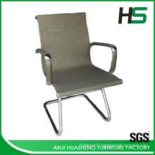 Low-back executive mesh office chair without wheels
