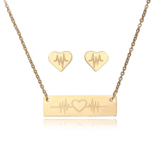 Fabricante Gold Accessories Pendientes Stainless Steel Jewelry Sets para mujeres