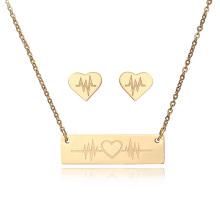 Fabricant Or Accessoires Boucles d'oreilles Ensembles de bijoux en acier inoxydable pour les femmes