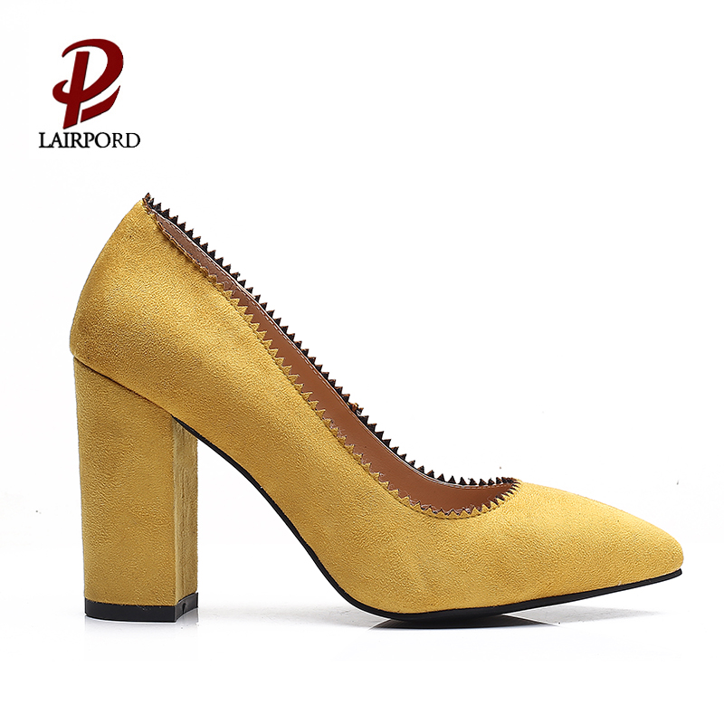 high heel thick heel comfortable women pumps